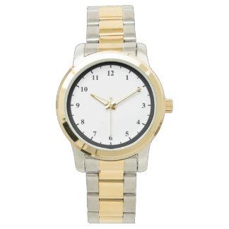 Unisex Oversized Two-Tone Bracelet Watch