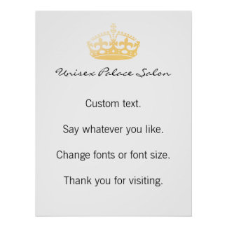 Unisex Palace Salon Jubilee Crown Poster