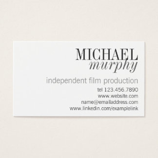 Unisex Professional Classic Modern Business Card