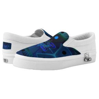 Unisex Slip-On Shoes w. Digital Spaceship Interior