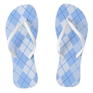 Unisex-Spring-Blue-Argyle-II_(C)Multi-Styles Flip Flops