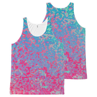Unisex Tank Colorful Corroded Background