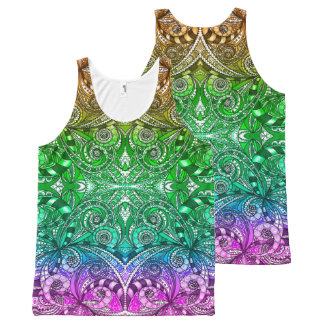 Unisex Tank Drawing Floral