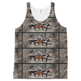 "Unisex Tank Top ""Wickenburg Horses"""