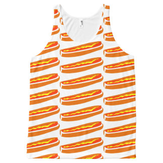 Unisex Tank Top with Hot Dog Design All-Over Print Tank Top