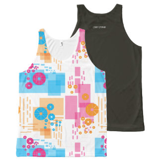 Unisex Tank with geometrical print All-Over Print Tank Top