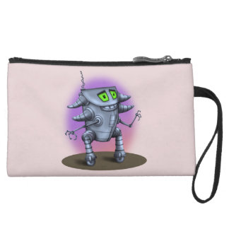 UNIT ALIEN ROBOT Sueded Mini Clutch Bag