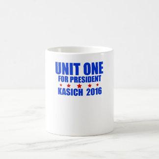 Unit One for President Kasich 2016 Basic White Mug