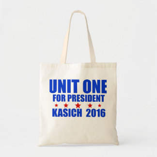 Unit One for President Kasich 2016 Budget Tote Bag
