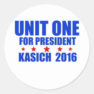 Unit One for President Kasich 2016 Round Sticker
