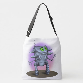 UNIT ROBOT ALIEN All-Over-Print Cross Body LARGE Crossbody Bag