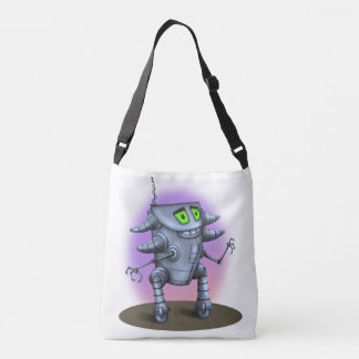 UNIT ROBOT ALIEN All-Over-Print Cross Body MEDIUM Crossbody Bag