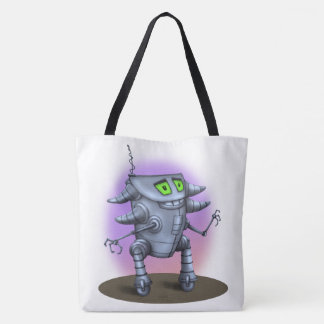 UNIT ROBOT ALIEN All-Over-Print Tote Bag LARGE