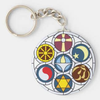 Unitarian Universalist Merchandise Basic Round Button Key Ring