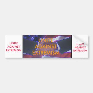 Unite Against Extremism/hand shake Bumper Sticker