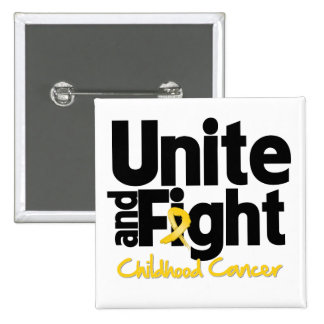 Unite and Fight Childhood Cancer 15 Cm Square Badge