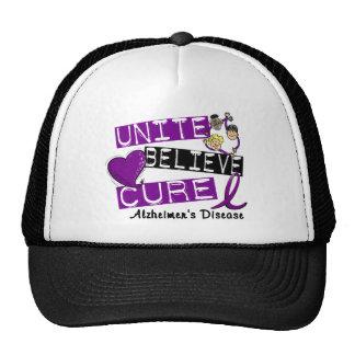 UNITE BELIEVE CURE Alzheimers Disease Mesh Hats