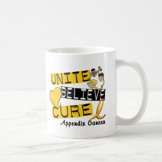 UNITE BELIEVE CURE Appendix Cancer Basic White Mug