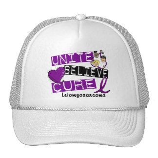 UNITE BELIEVE CURE Leiomyosarcoma Trucker Hats