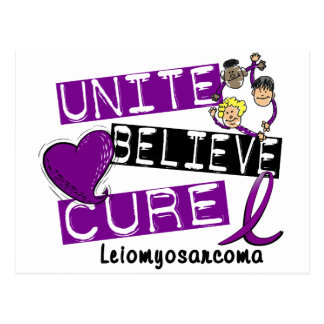 UNITE BELIEVE CURE Leiomyosarcoma Postcard
