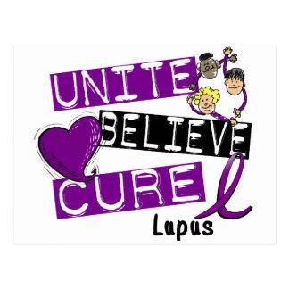 UNITE BELIEVE CURE Lupus Postcard