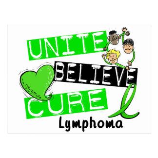 UNITE BELIEVE CURE Lymphoma Postcard