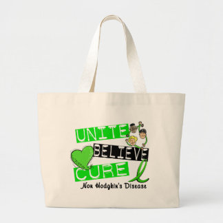 UNITE BELIEVE CURE Non-Hodgkin's Disease Large Tote Bag