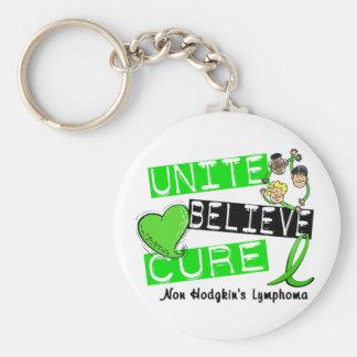 UNITE BELIEVE CURE Non-Hodgkin's Lymphoma Basic Round Button Key Ring