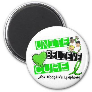 UNITE BELIEVE CURE Non-Hodgkin's Lymphoma 6 Cm Round Magnet