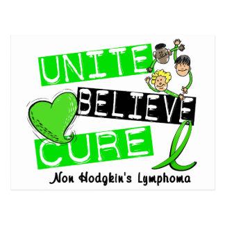 UNITE BELIEVE CURE Non-Hodgkin's Lymphoma Post Card