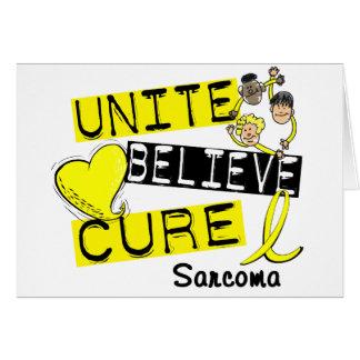 UNITE BELIEVE CURE Sarcoma Cards