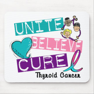 UNITE BELIEVE CURE Thyroid Cancer Mouse Pad