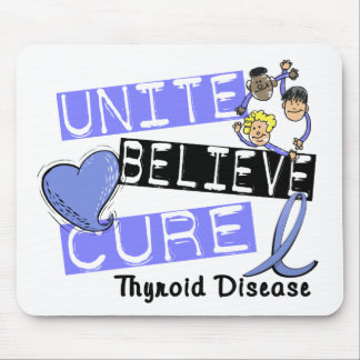 UNITE BELIEVE CURE Thyroid Disease Mouse Mat
