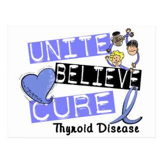 UNITE BELIEVE CURE Thyroid Disease Postcard
