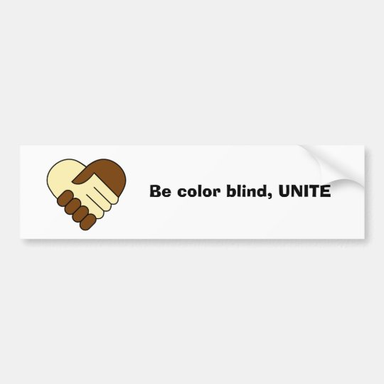 'Unite' bumper sticker