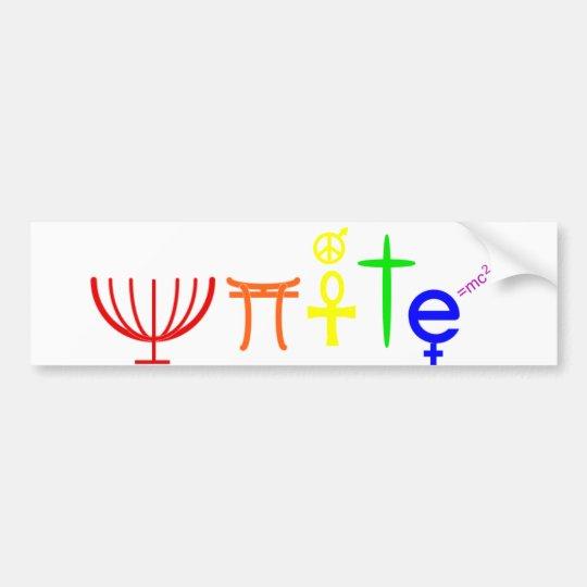 Unite Bumpersticker Bumper Sticker