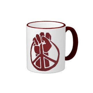Unite to end war ringer mug