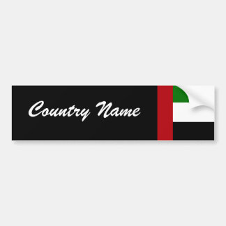 United Arab Emirates Car Bumper Sticker