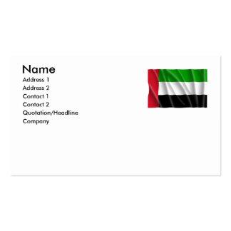 UNITED ARAB EMIRATES BUSINESS CARD TEMPLATE