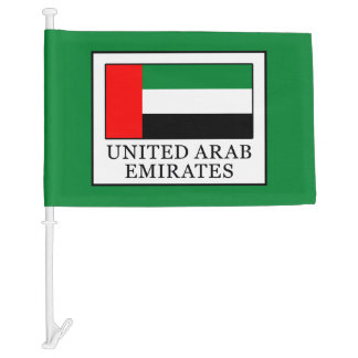 United Arab Emirates Car Flag