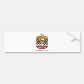 United Arab Emirates coat of arms Car Bumper Sticker