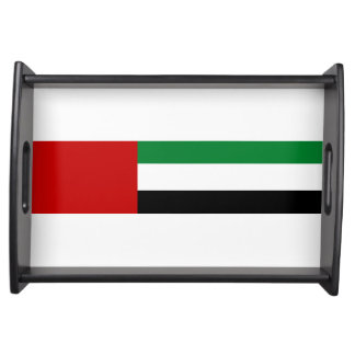 united arab emirates country flag nation symbol serving tray