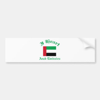 United Arab Emirates design Car Bumper Sticker