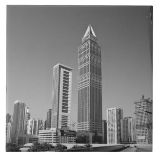 United Arab Emirates, Dubai, Dubai City. 2 Large Square Tile