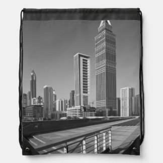 United Arab Emirates, Dubai, Dubai City. Drawstring Backpack
