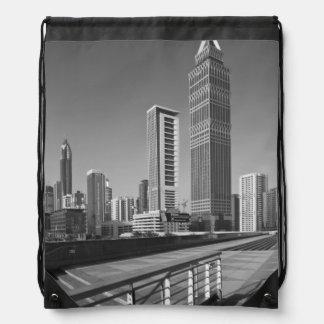 United Arab Emirates, Dubai, Dubai City. Drawstring Bag