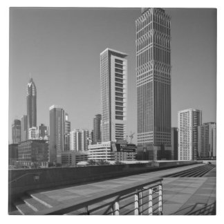 United Arab Emirates, Dubai, Dubai City. Large Square Tile