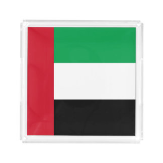 United Arab Emirates Flag Acrylic Tray