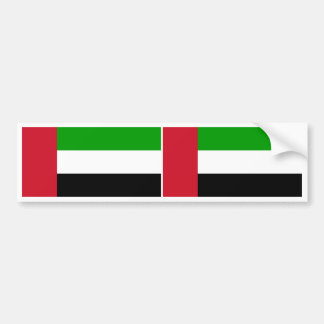 United Arab Emirates Flag Car Bumper Sticker