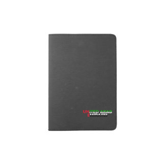 United Arab Emirates flag font Passport Holder